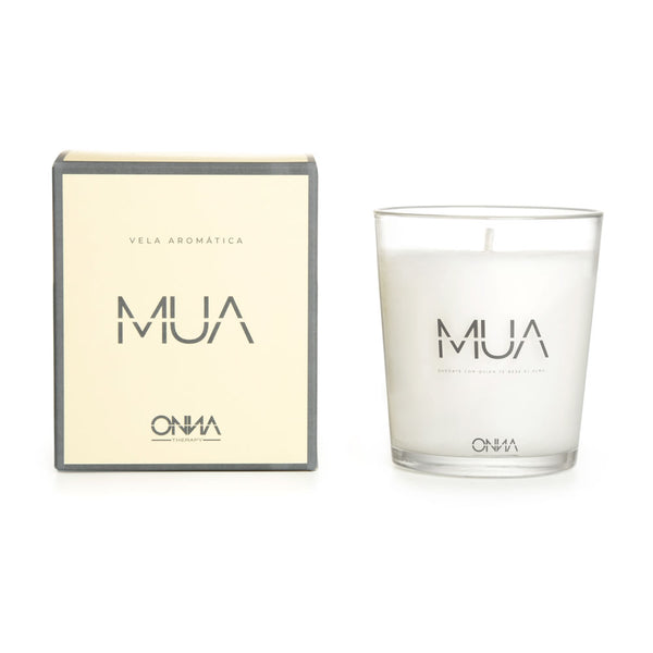 """MUA"" AROMATIC CANDLE with natural oil extracts of ""Bulgarian Rose""."