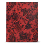 Flower Painting PU Leather Padfolio Ring Binder with Removable Clipboard, Organizer Portfolio File Folder with 2-Ring Binder