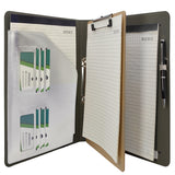 Binder Padfolio Organizer with Removable Clipboard, Organizer Portfolio File Folder with 2-Ring Binder