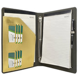 Binder Padfolio Organizer with Removable Clipboard, Organizer Portfolio File Folder with 3-Ring Binder