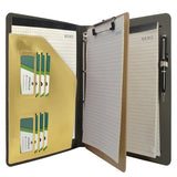 Binder Padfolio Organizer with Removable Clipboard, Organizer Portfolio File Folder with 4-Ring Binder