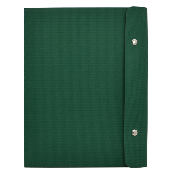 Ring Binder Padfolio with A4 Expanded Document Bags, Organizer Binder Portfolio Case with 4-Ring Binder and Clipboard