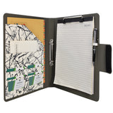 Padfolio Ring Binder with Color File Folders, 2-Ring Binder Portfolio  A4 Binder Padfolio Organizer Document Case