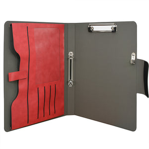 2 Ring Binder Padfolio File Folder, Business and Interview Portfolio with 2-Ring Binder, Clipboard
