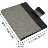 4 Ring Binder Padfolio File Folder, Business and Interview Portfolio with 4-Ring Binder, Clipboard