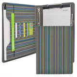 Ring Binder Padfolio, Business Planner Organizer Portfolio with 4-Ring Binder, Clipboard