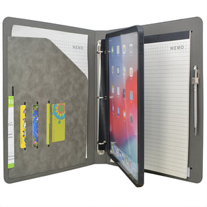 "Tablet Organizer Padfolio with 3-Ring Binder, Binder Portfolio with Removable Tablet Holder for iPad 10.5""/ iPad Pro 11""/ 12.9"""