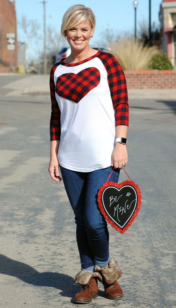 3/4 Length Plaid Top
