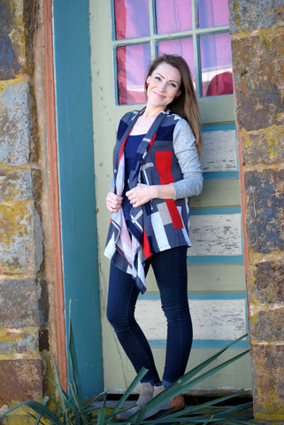 Long Sleeve Block Cardigan