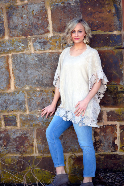 Short Sleeve Floral Lace Top