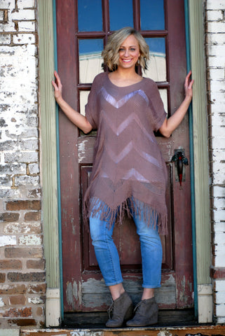 Chevron Fringe Top