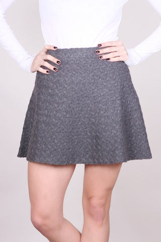Charcoal Grey Knit Skirt