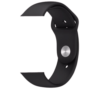 eprolo Accessories Black Silicon / 38 mm SM series 4321 Silicon Apple iWatch Band