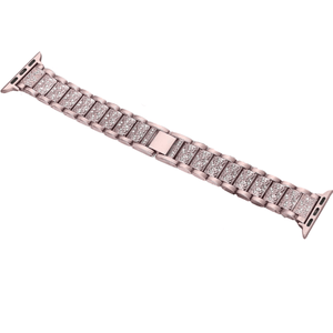 eprolo Accessories Devine Crystal Stainless Steel Band for Apple iWatch