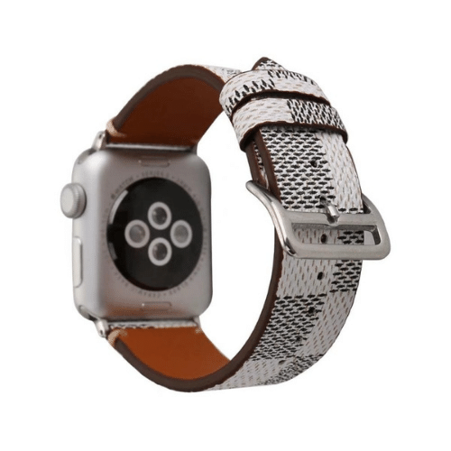 eprolo Accessories Plaid Leather iWatch Band