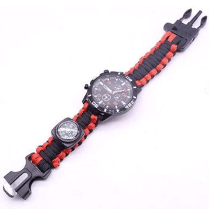 eprolo bracelet Black and Red / 25.5cm Military Grade Survival Wristband
