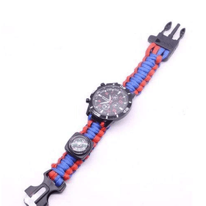 eprolo bracelet Blue and Red / 25.5cm Military Grade Survival Wristband