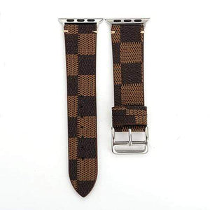eprolo Brown / For 38mm Plaid Leather Watch Band for Apple Watch iwatch 38/40mm 42/44mm Series 1 2 3 4 Men's Women's Wirst Watch Strap Belt Bracelet.