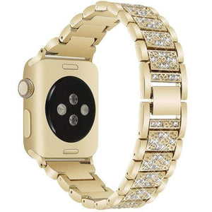eprolo gold / 38mm and 40mm For Apple Watch band 40mm 44mm 38mm 42mm women Diamond Band for Apple Watch series 4 3 2 1 IWatch Bracelet Stainless Steel Strap