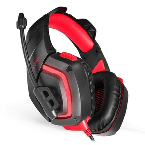 eprolo Headphones Gamer Red LED Gaming Headset with Mic