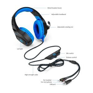 eprolo Headphones LED Gaming Headset with Mic