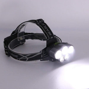 eprolo light bulb LED Headlamp 5 CREE XM-L T6 15000 lumens LED USB  Camping Hike Emergency Light