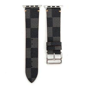 eprolo Plaid Leather Watch Band for Apple Watch iwatch 38/40mm 42/44mm Series 1 2 3 4 Men's Women's Wirst Watch Strap Belt Bracelet.