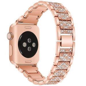 eprolo rose gold / 38mm and 40mm For Apple Watch band 40mm 44mm 38mm 42mm women Diamond Band for Apple Watch series 4 3 2 1 IWatch Bracelet Stainless Steel Strap