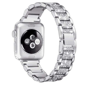 eprolo silver / 38mm and 40mm For Apple Watch band 40mm 44mm 38mm 42mm women Diamond Band for Apple Watch series 4 3 2 1 IWatch Bracelet Stainless Steel Strap