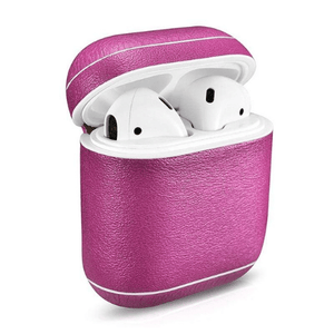 needs description eprolo Accessories Shimmering Pink Leather Earphone Case For Apple Airpods