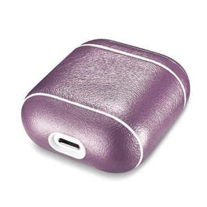 needs description eprolo Accessories Shimmering Purple Leather Earphone Case For Apple Airpods