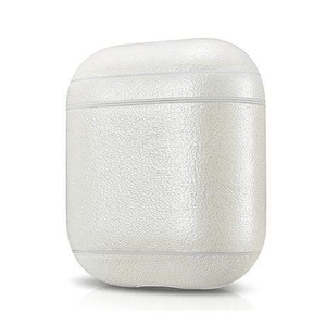 needs description eprolo Accessories Shimmering White Leather Earphone Case For Apple Airpods
