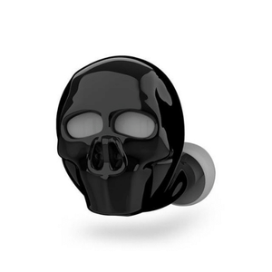 needs description eprolo Earphones Black Skull Skull Bone Bluetooth Earphone with Microphone Noise Cancelling Hi-Fi Handsfree Bass Stereo Mini Micro Earbud Earpiece