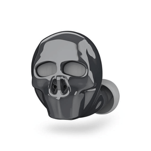 needs description eprolo Earphones Grey Skull Skull Bone Bluetooth Earphone with Microphone Noise Cancelling Hi-Fi Handsfree Bass Stereo Mini Micro Earbud Earpiece