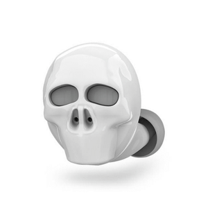 needs description eprolo Earphones White Skull Skull Bone Bluetooth Earphone with Microphone Noise Cancelling Hi-Fi Handsfree Bass Stereo Mini Micro Earbud Earpiece