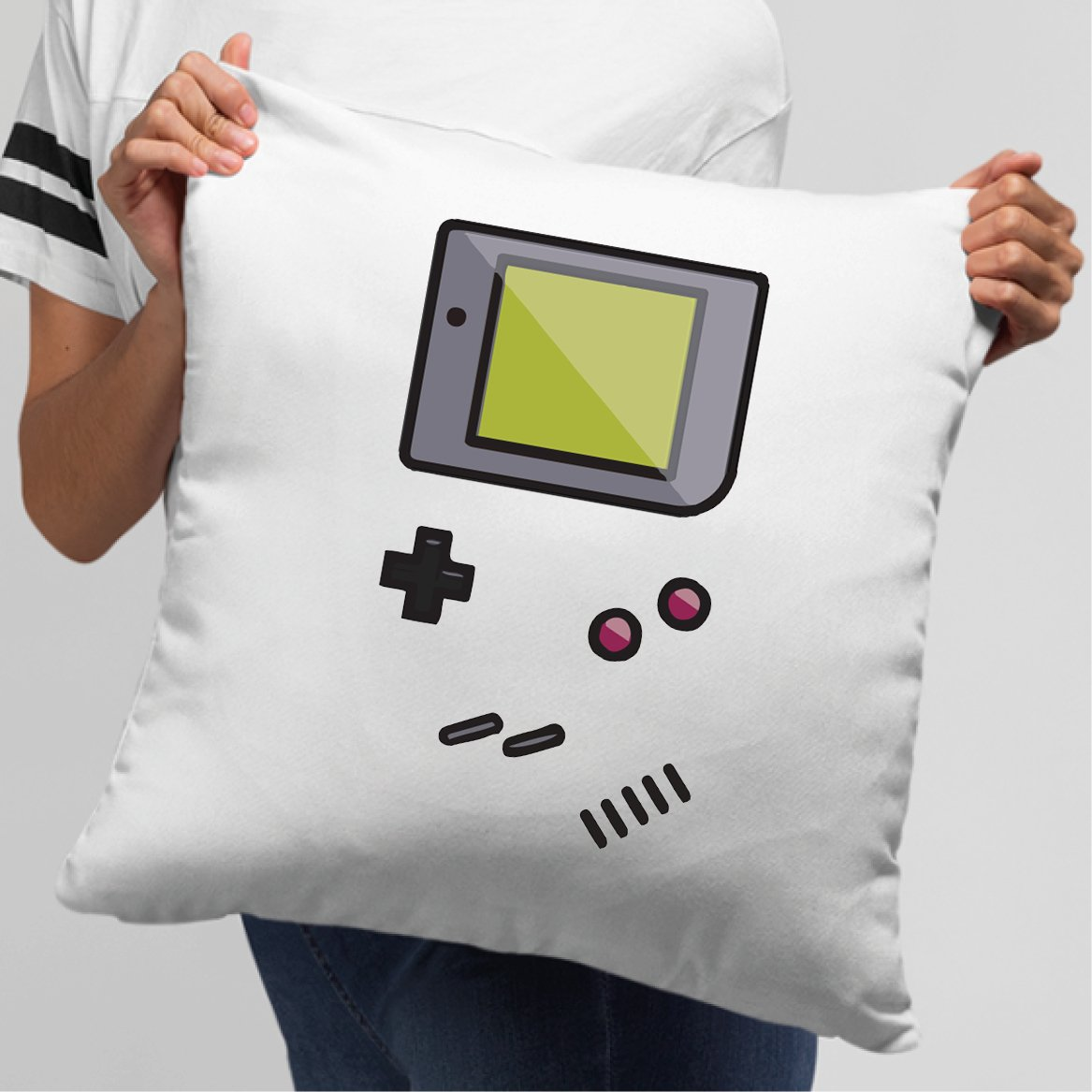 Coussin Game Boy Blanc