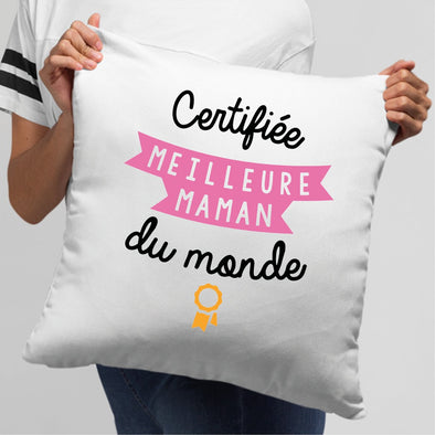 Coussin Meilleure maman Blanc