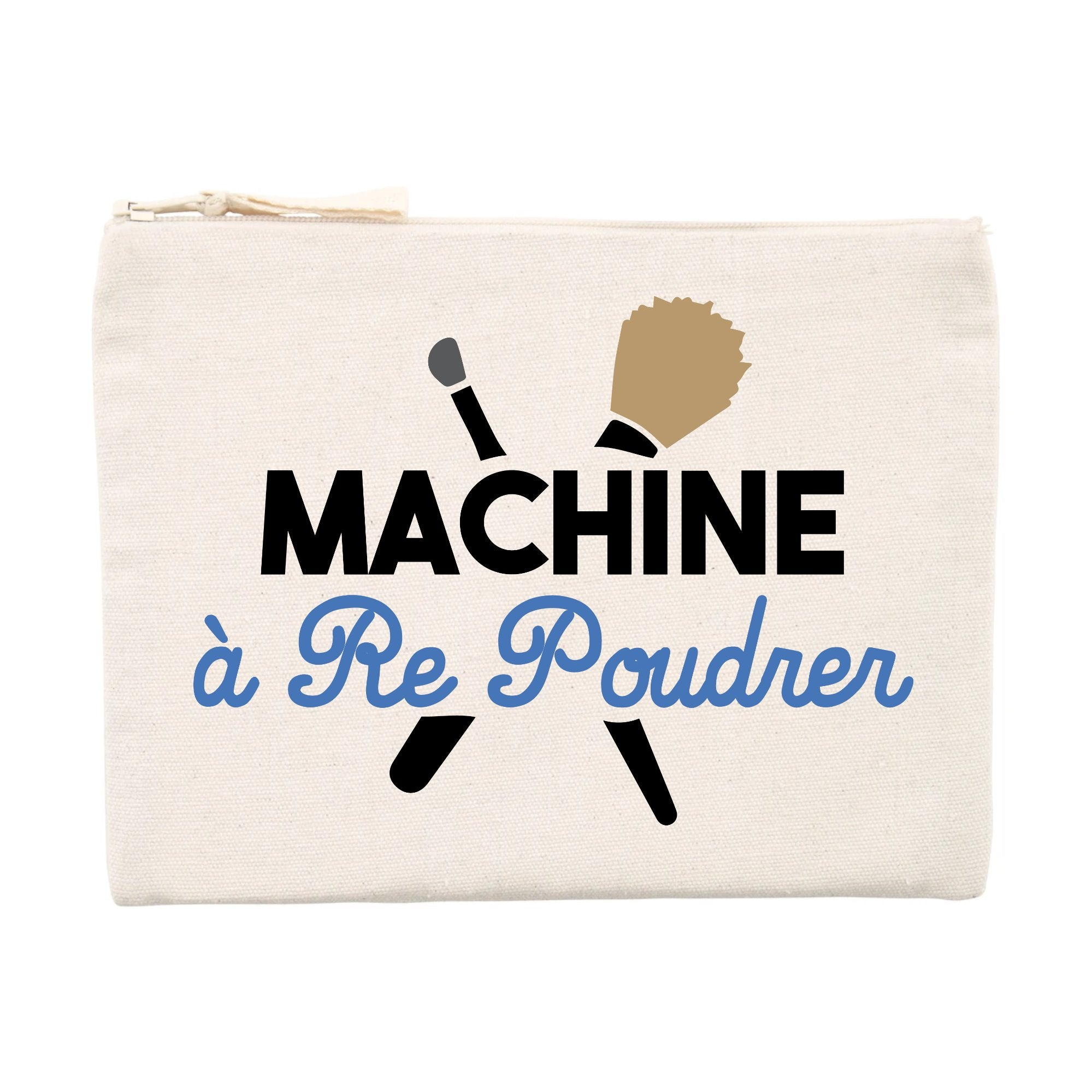 Pochette Machine à re-poudrer Beige