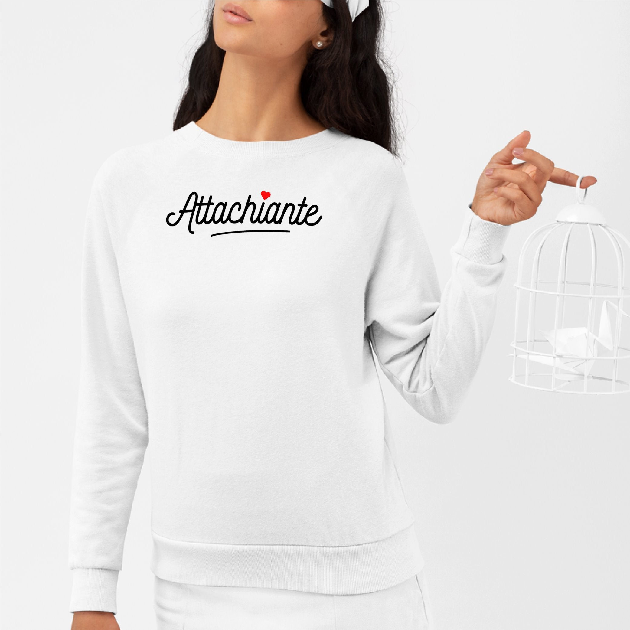 Sweat Adulte Attachiante Blanc