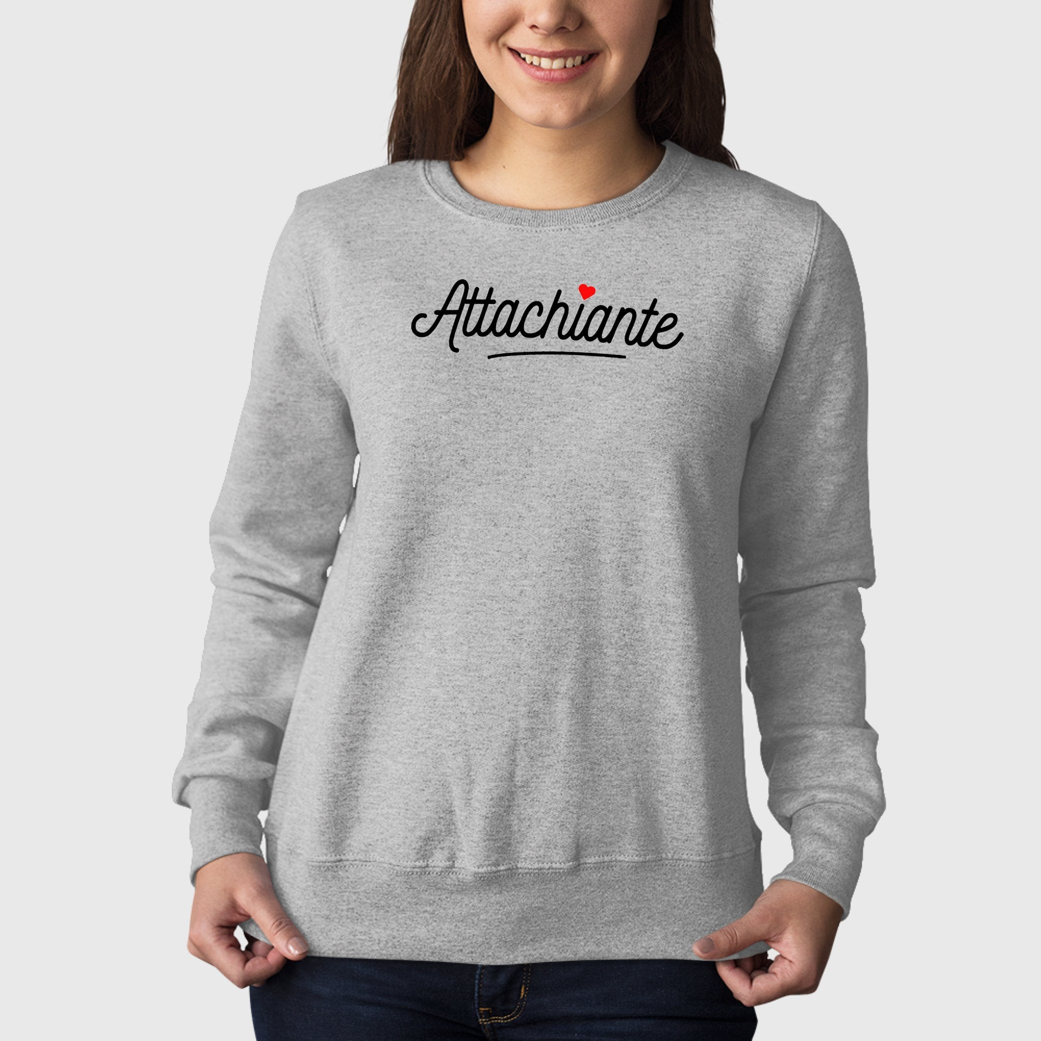 Sweat Adulte Attachiante Gris