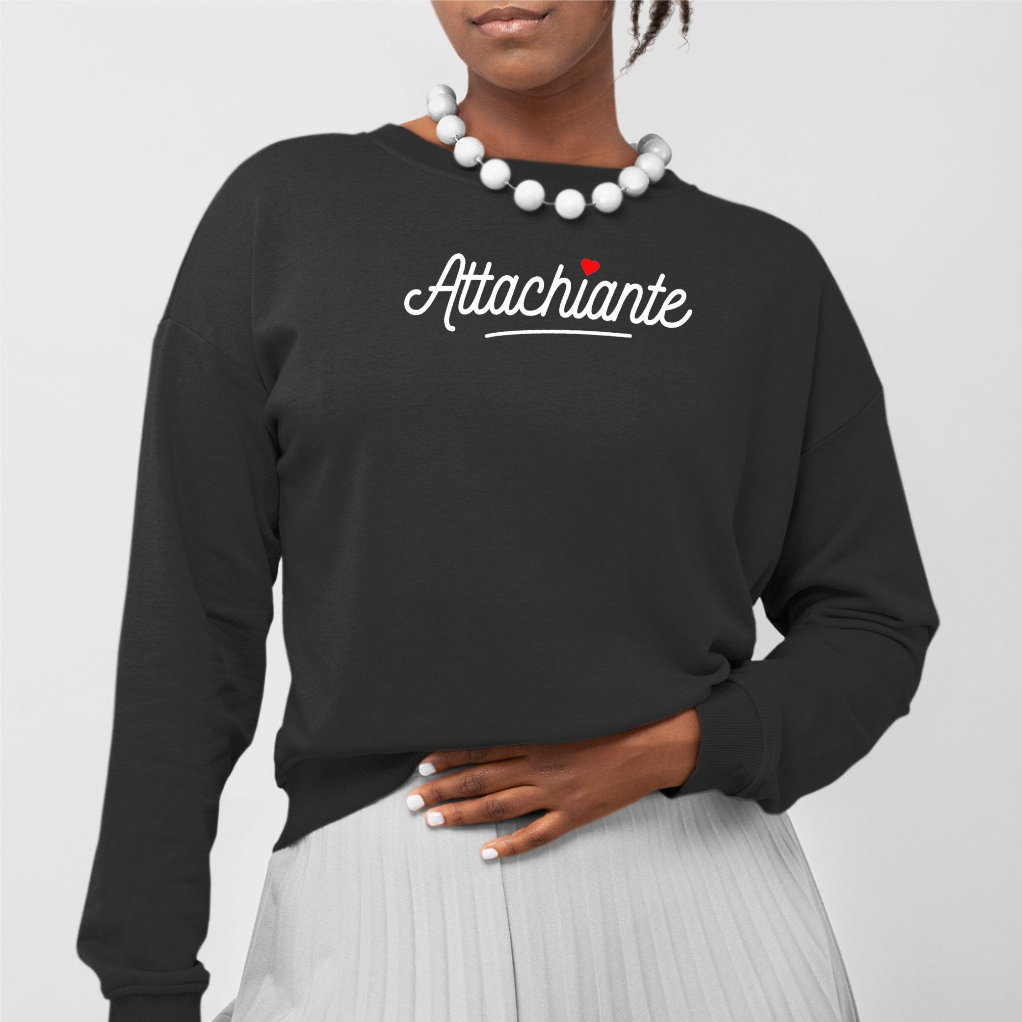 Sweat Adulte Attachiante Noir
