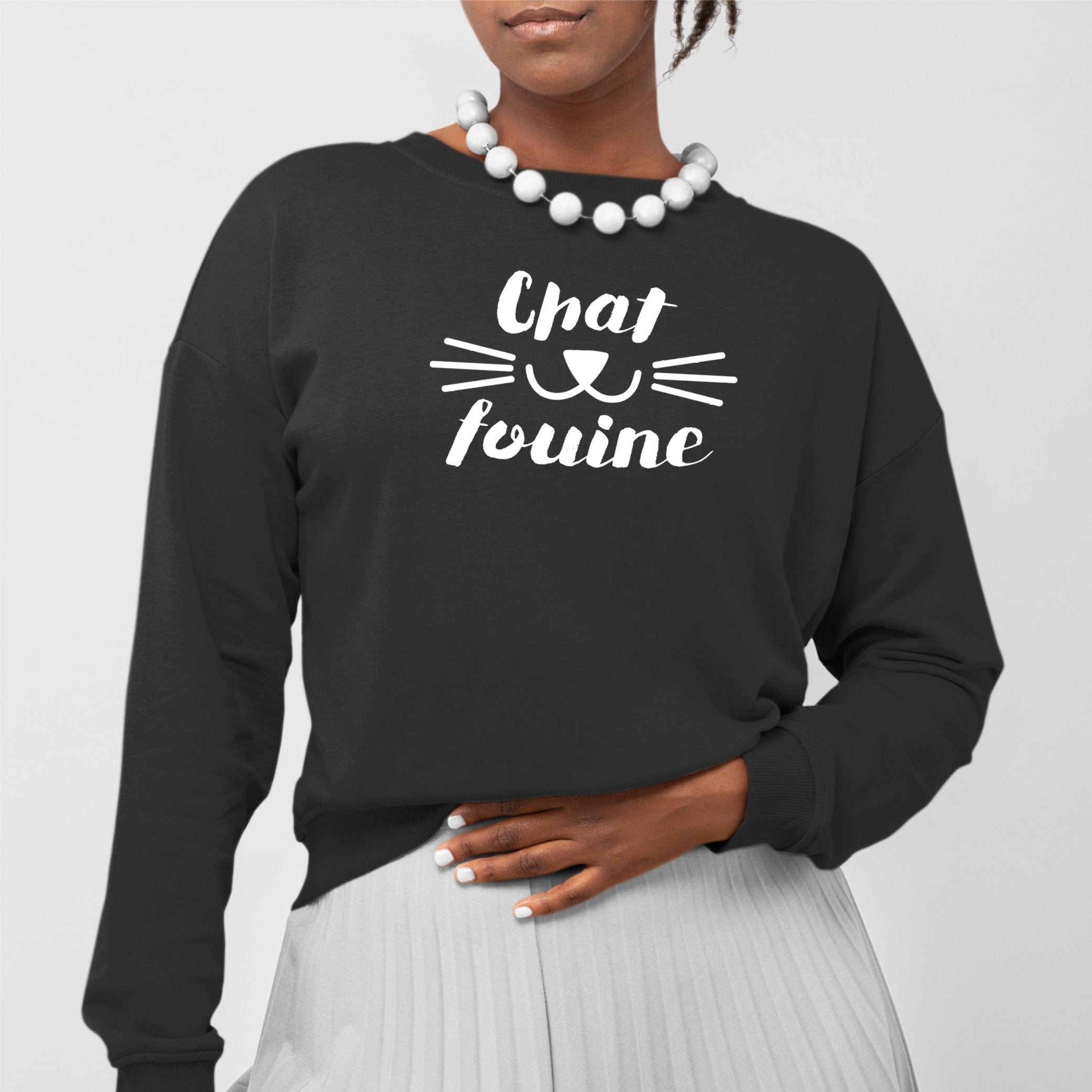 Sweat Adulte Chafouine Noir