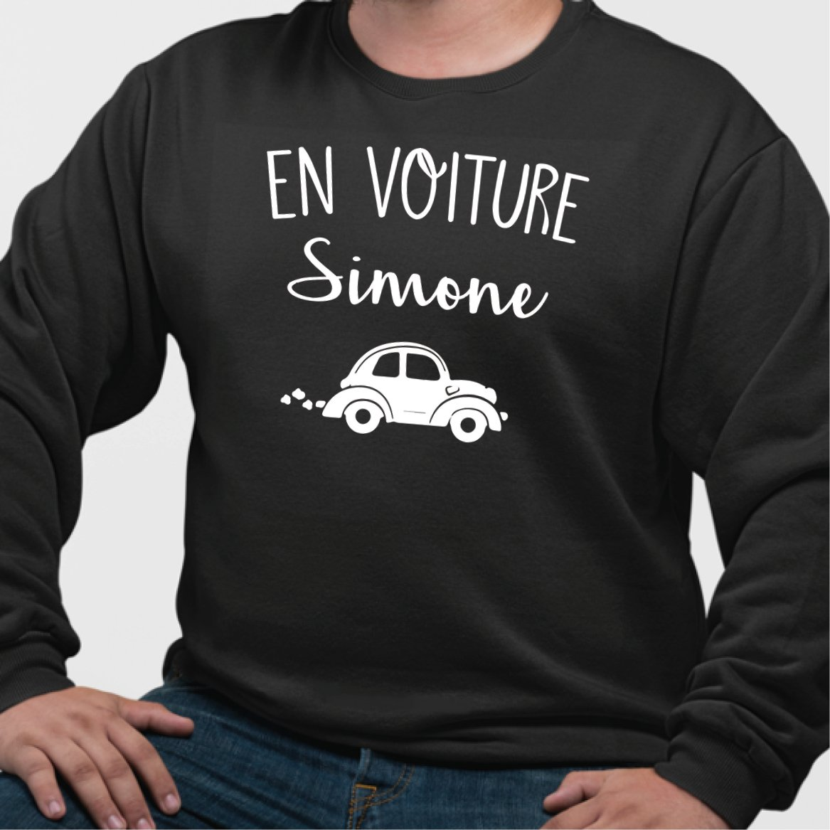 Sweat Adulte En voiture Simone Noir