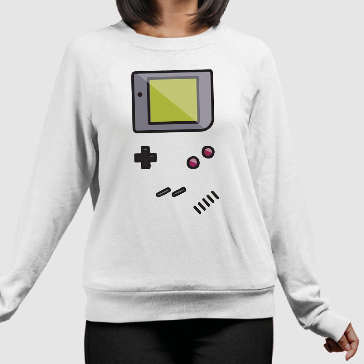 Sweat Adulte Game Boy Blanc