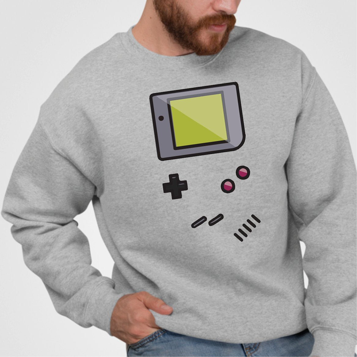 Sweat Adulte Game Boy Gris
