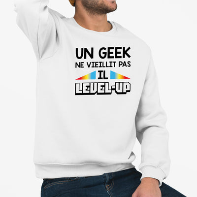 Sweat Adulte Geek level-up