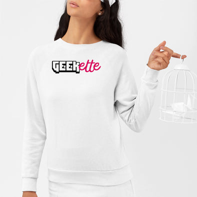 Sweat Adulte Geekette Blanc