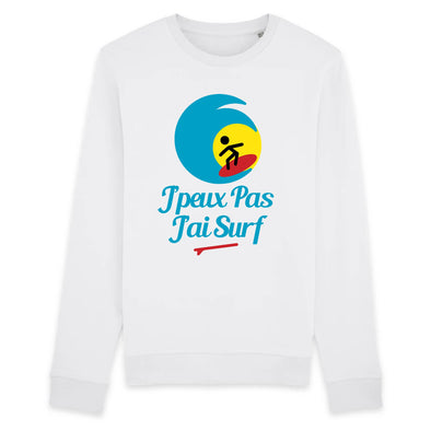 Sweat Adulte J'peux pas j'ai surf Blanc