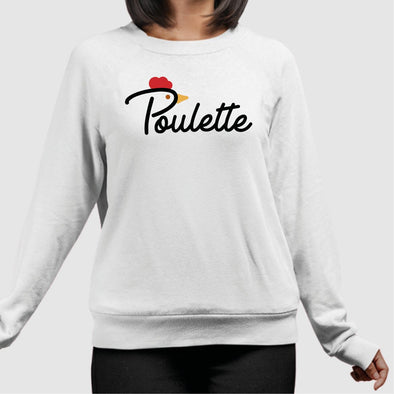 Sweat Adulte Poulette Blanc