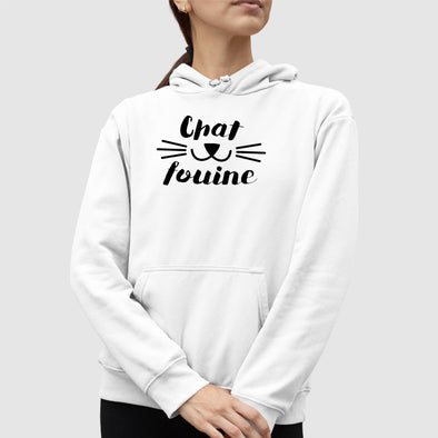 Sweat Capuche Adulte Chafouine Blanc